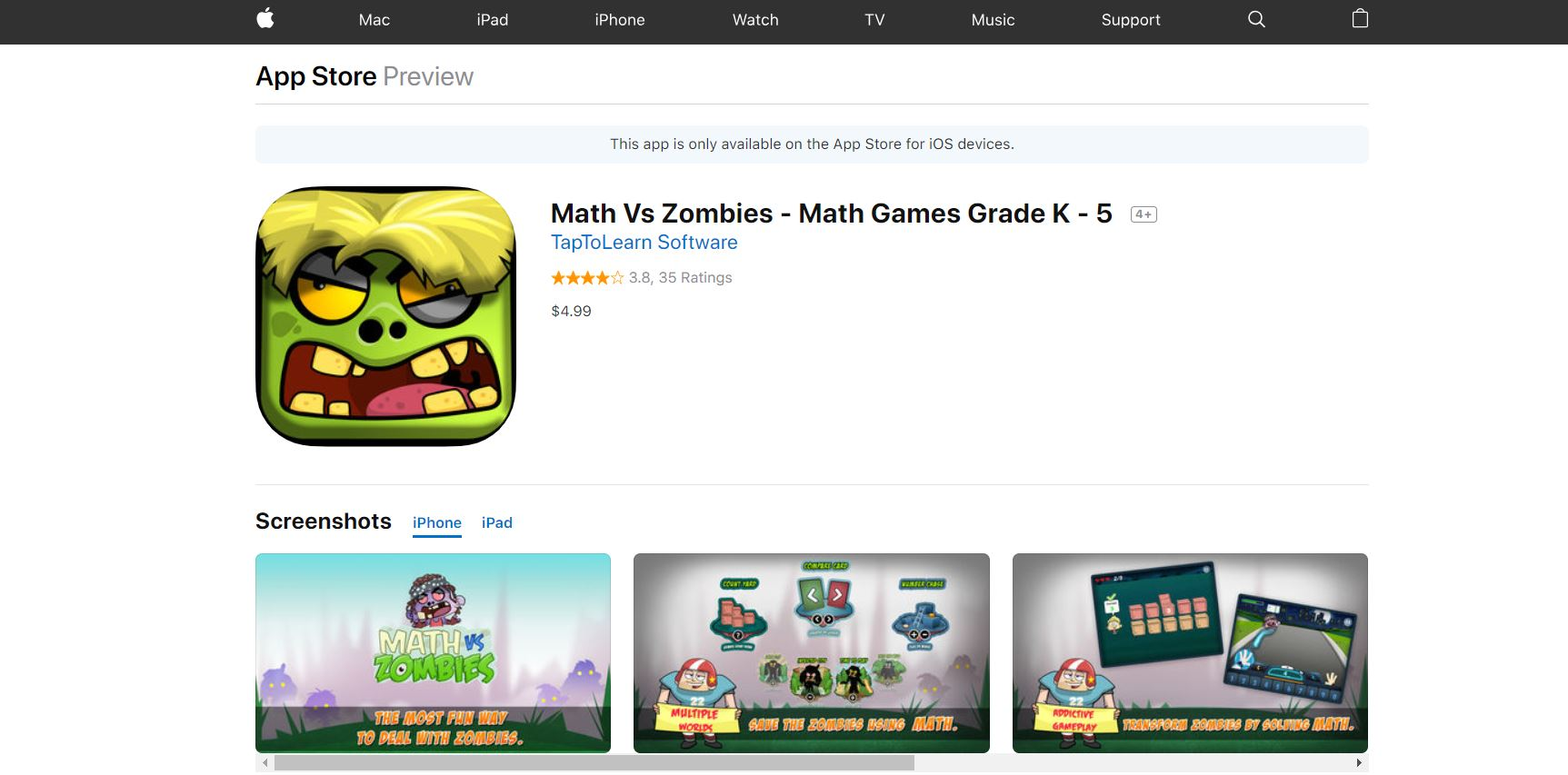 Math Vs. Zombies CodaKid Top 21 Math Apps of All Time