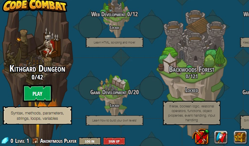 CodeCombat free coding for kids
