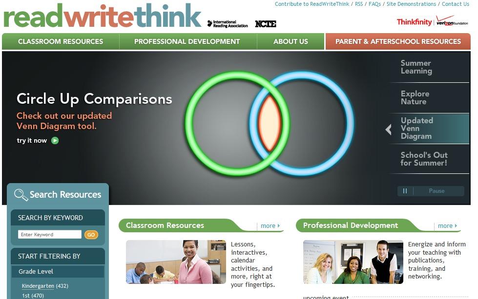 ReadWriteThink Best Online Educational Program for Kids