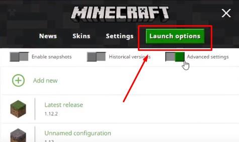 Launch Option