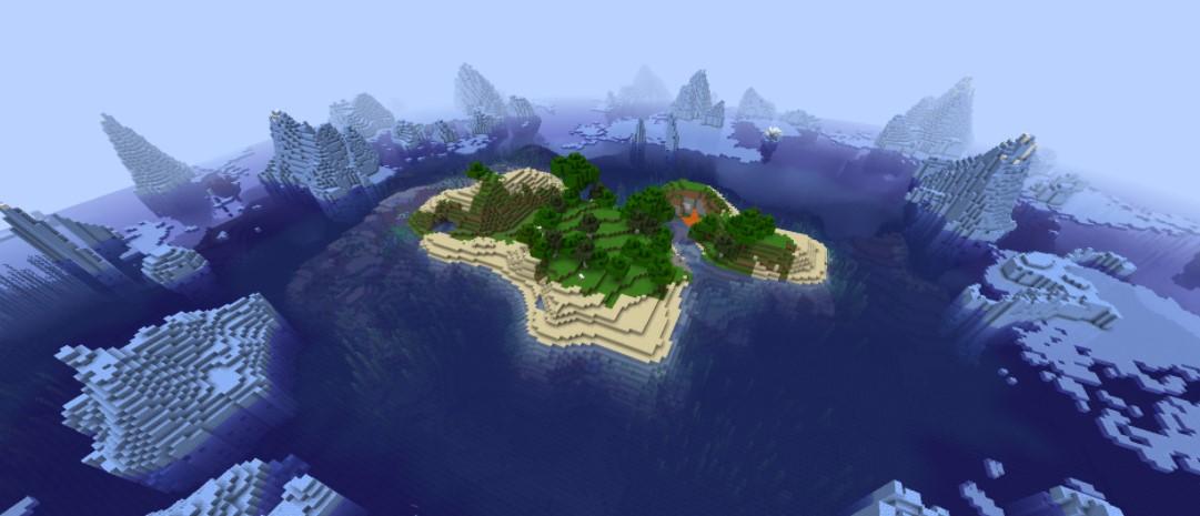 minecraft seeds frozen island