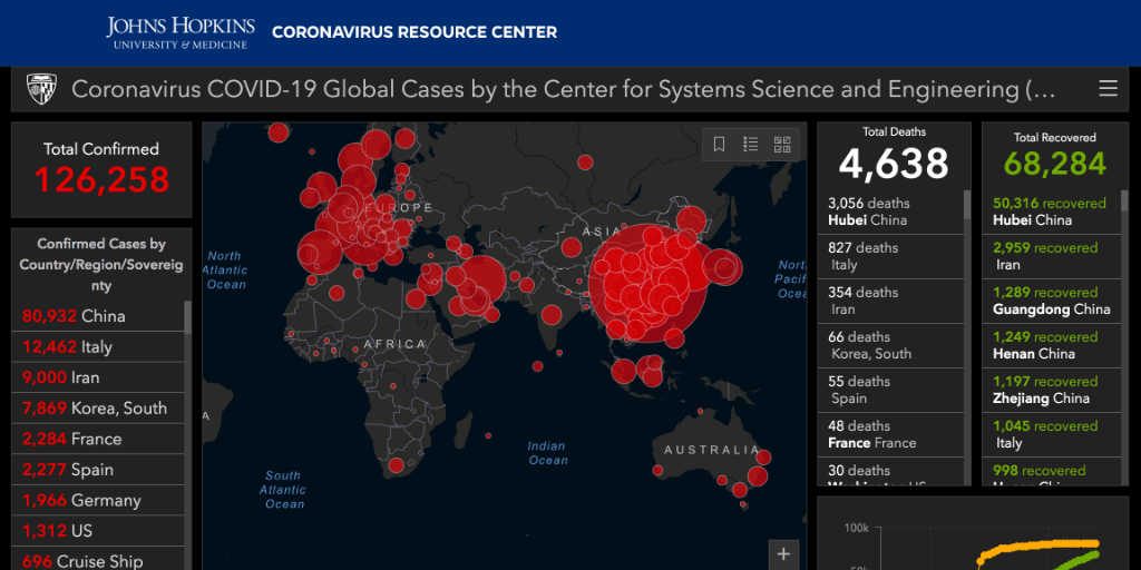 US sanctions block Iranians from accessing coronavirus map - Coda ...