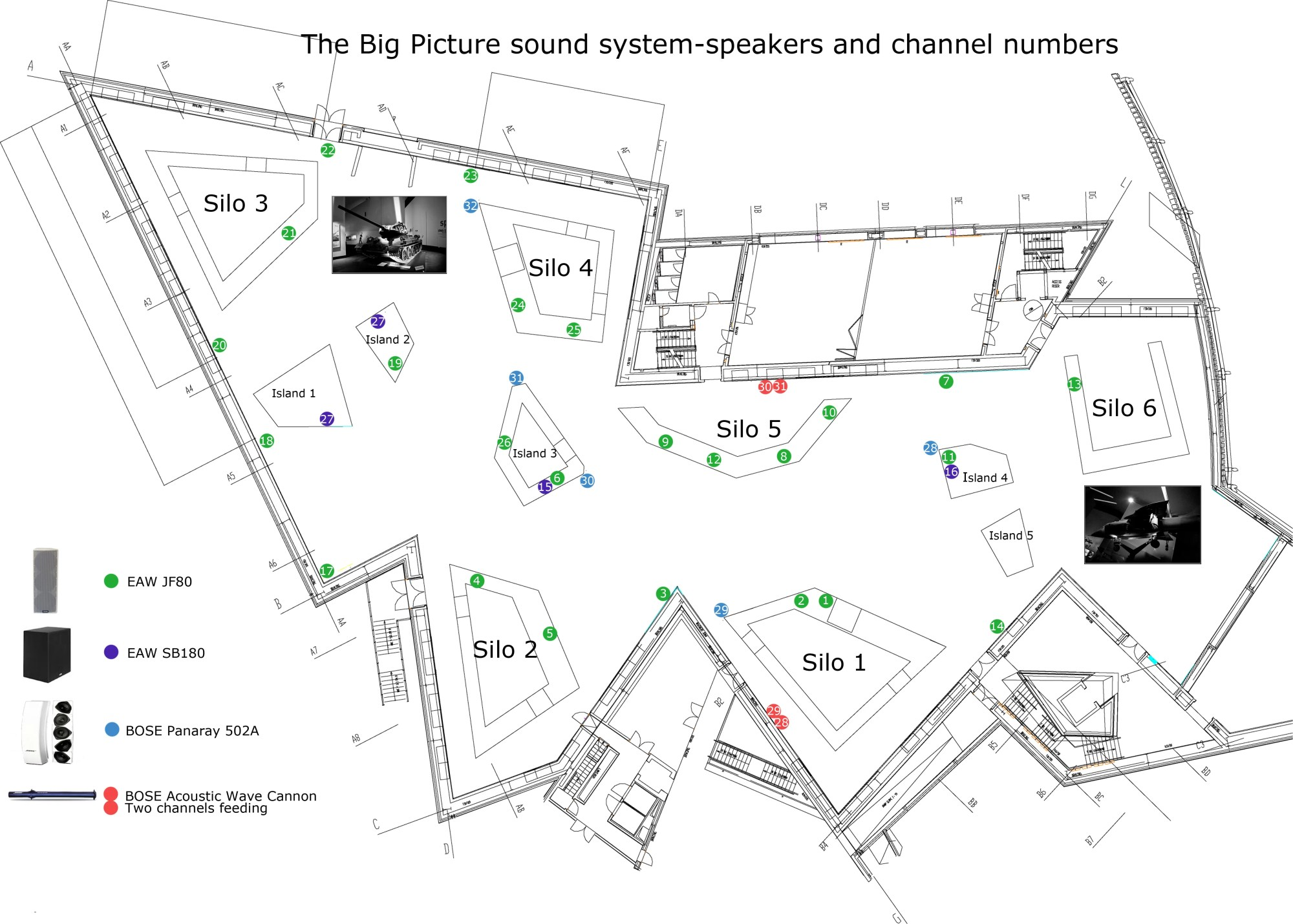 hight resolution of big picture show speaker plan