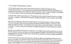 Breuder's letter regarding early retirement
