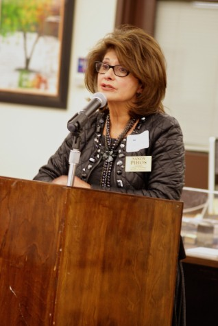 Board candidate Sandra Pihos at a March 24 forum.