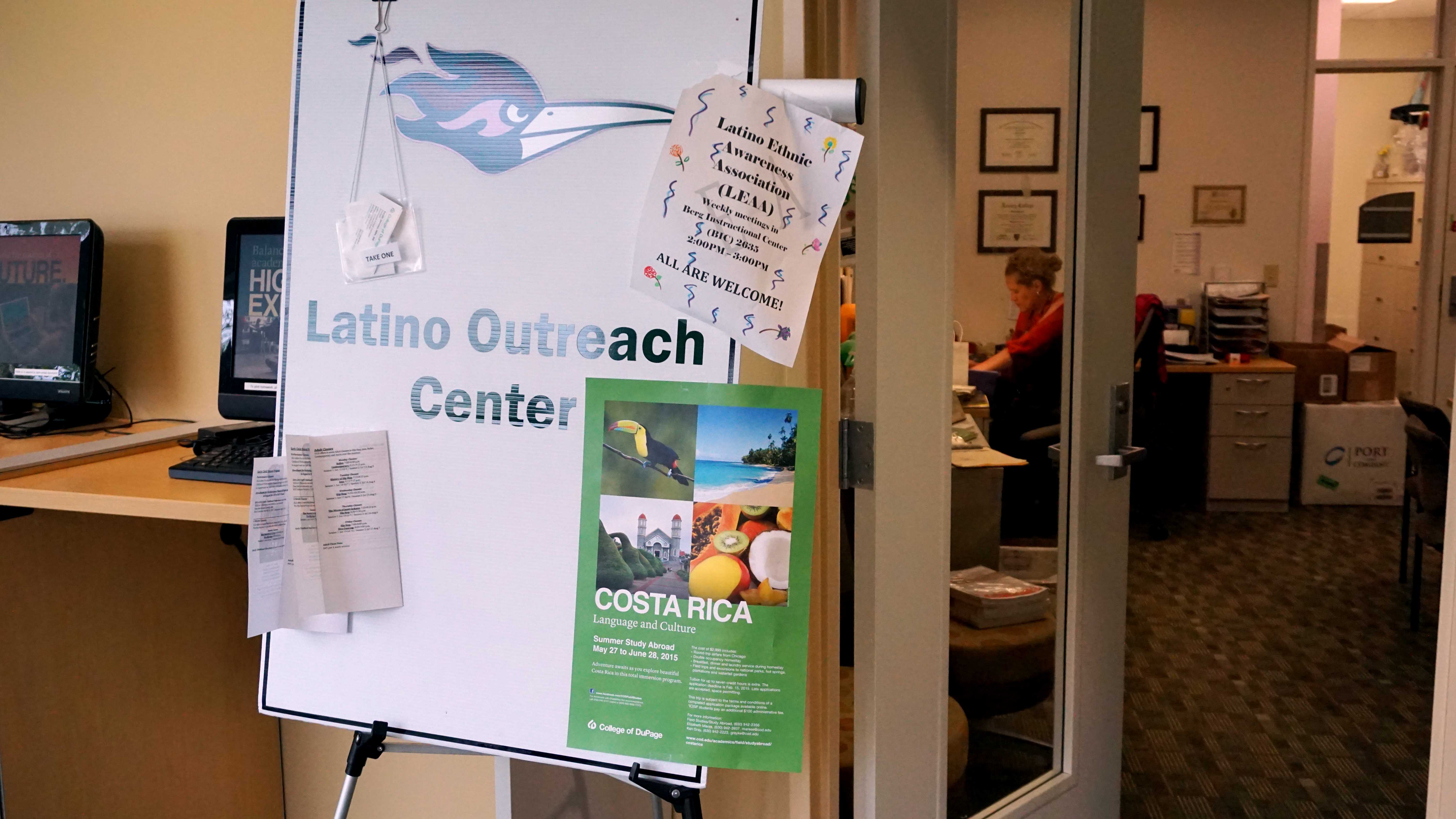 The Latino Outreach Center is located in the Student Services Center.