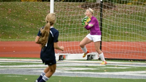 Chaparral goaltender Meghan Diddia catching the ball at the Region IV finals on Oct. 27.