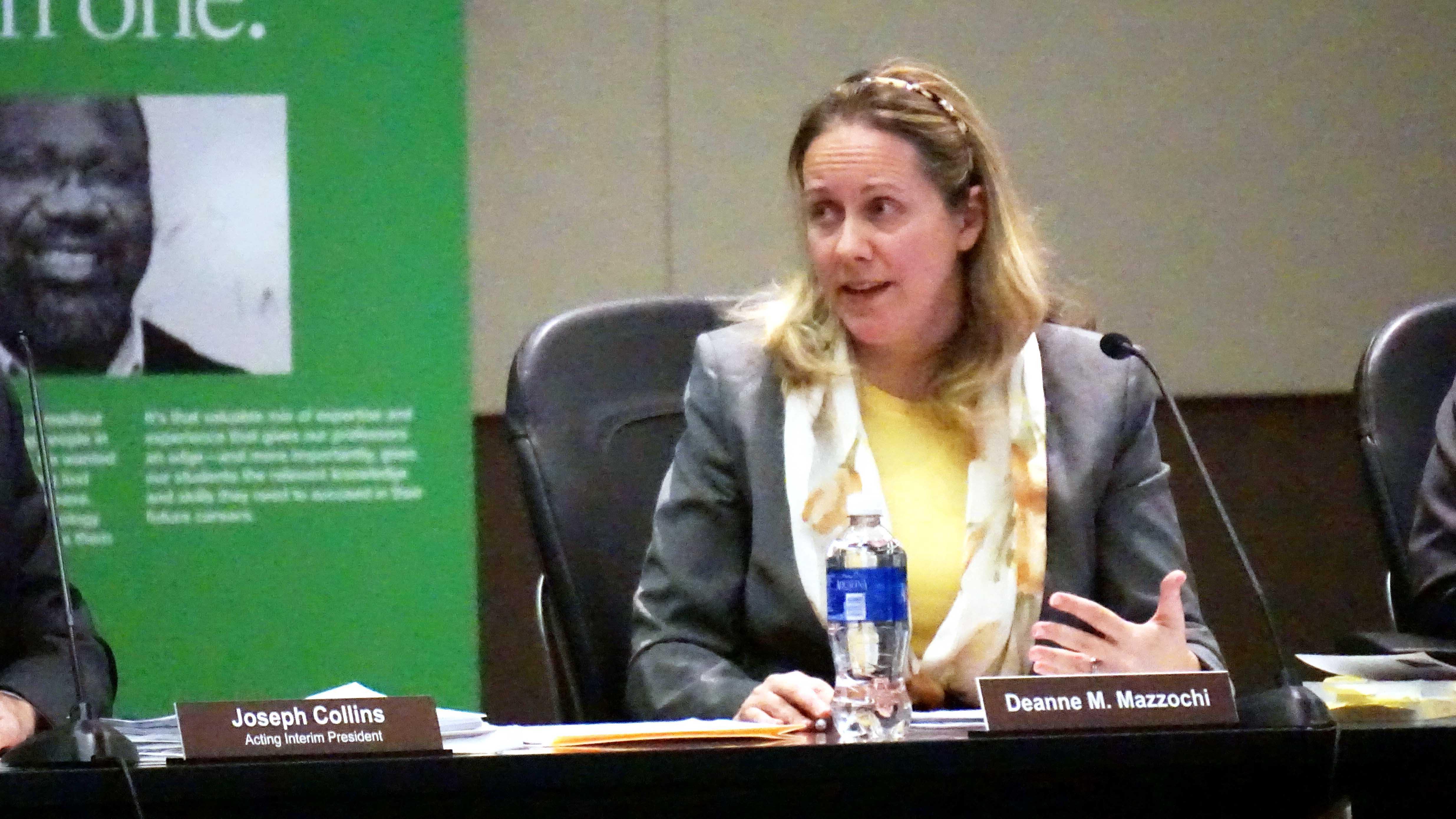 Board Chairwoman Deanne Mazzochi