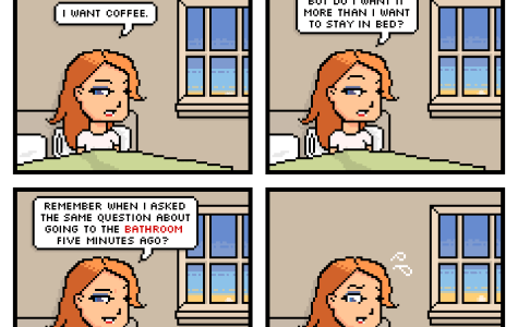 Comic: Coffee vs. Sleep