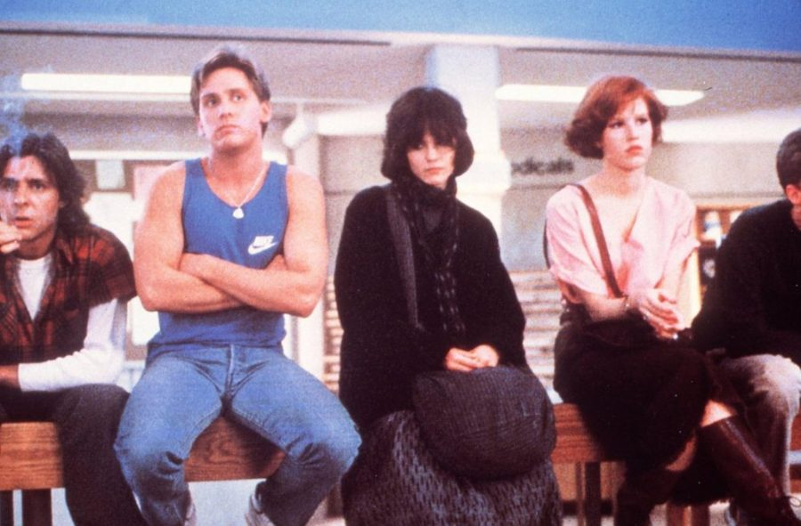 Cast+of+1985+coming-of-age+movie+The+Breakfast+Club.+