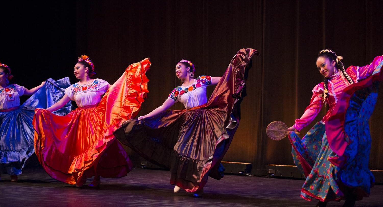 Ballet Folklorico Quetzalcoatl performing at the Frida Kahlo Exhibition Announcement in Nov. 2018. They will also be performing at Frida Fest on Sept 8. Photo by COD Newsroom Flickr