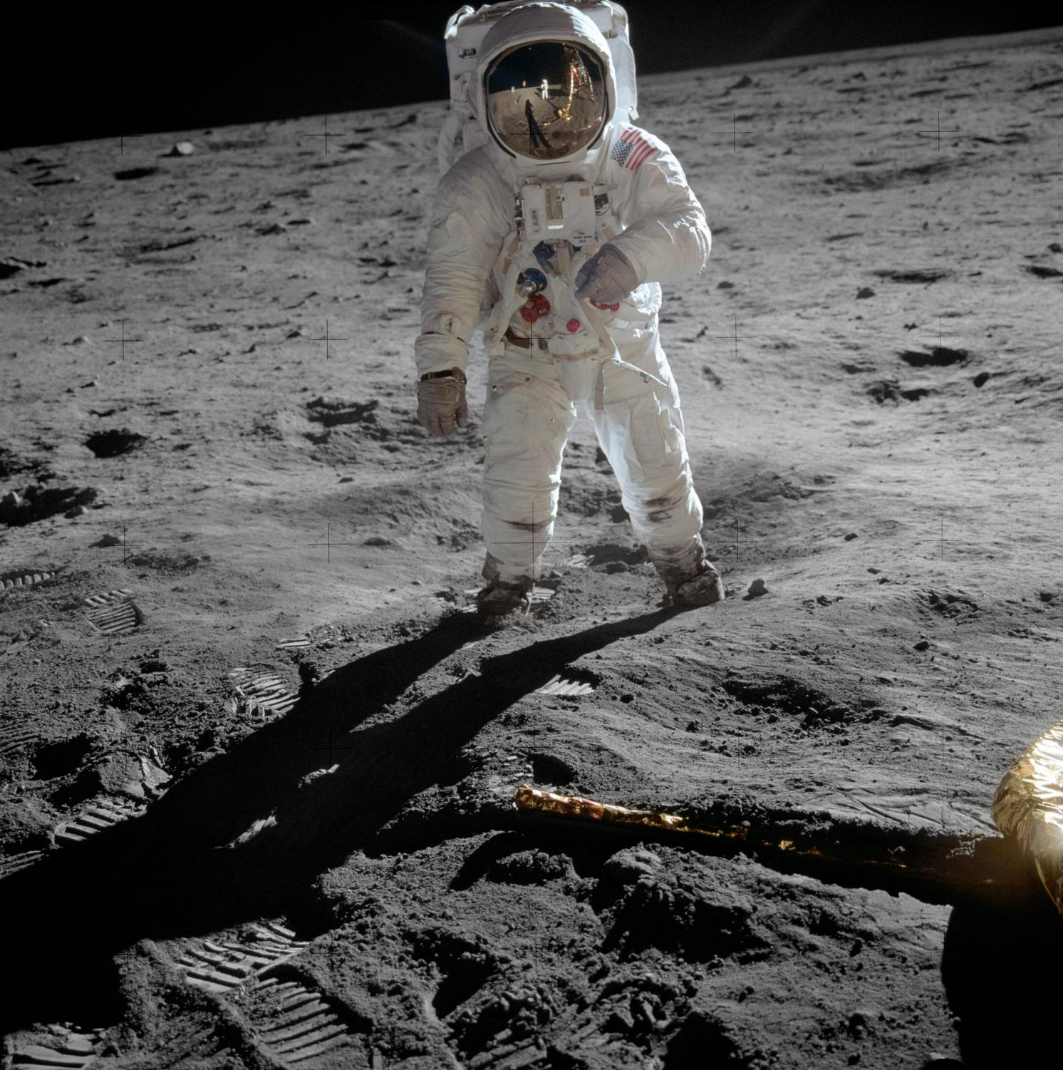 Astronaut Buzz Aldrin on the moon  - Wikimedia Commons/NASA