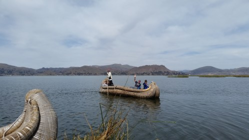 This is the type of boat they use for getting around the lake
