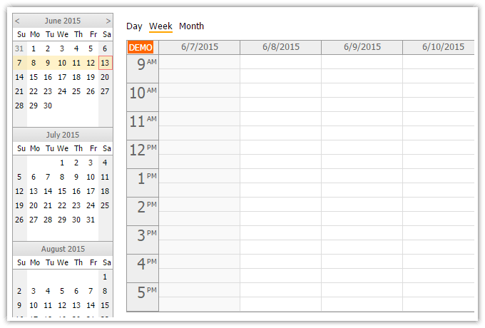 Html5 Calendar With Dayweekmonth Views (javascript, Php