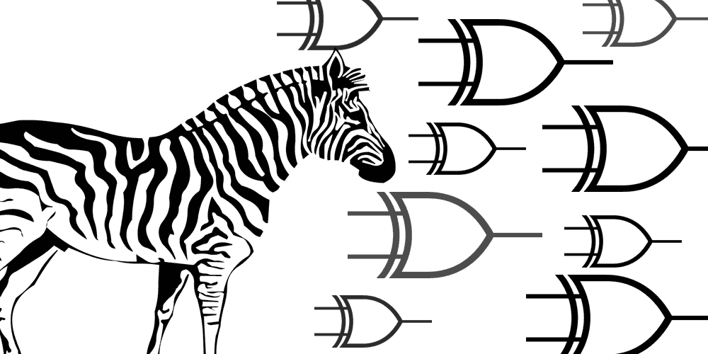 Solving the Zebra Puzzle with Boolean Algebra