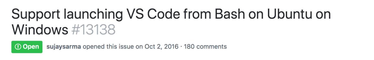 VS Code Ubuntu on Windows testimonial