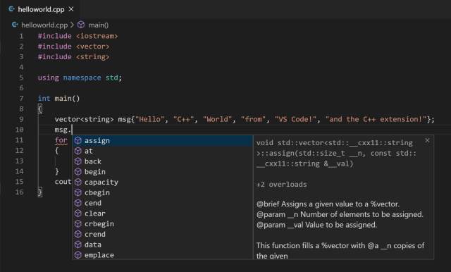 Get Started with C++ on Linux in Visual Studio Code