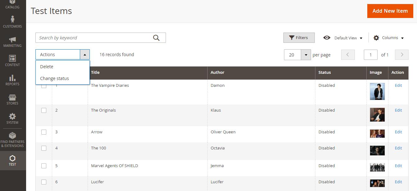 Magento 2 Custom Module Admin Grid Ui MassActions