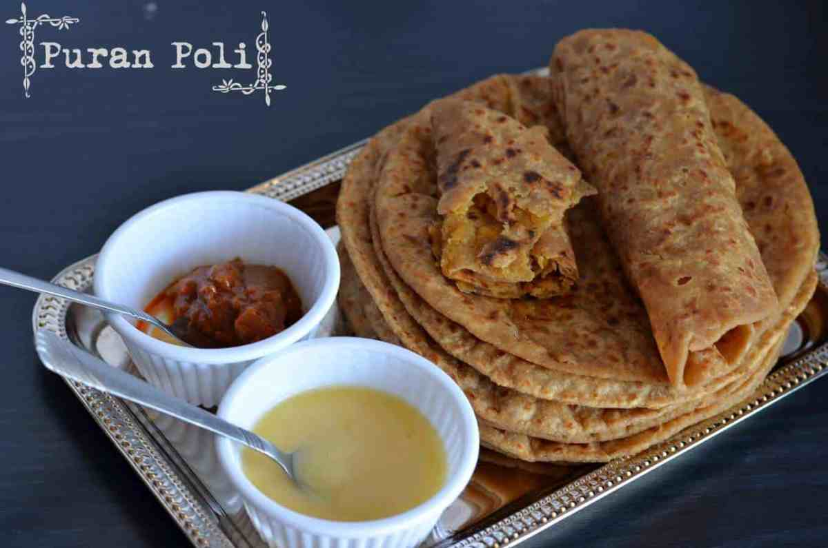 Puran Poli Recipe | How To Make Puran Poli | Lentil Stuffed Sweet Flatbread