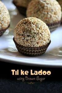 Sesame Brown Sugar Ladoo