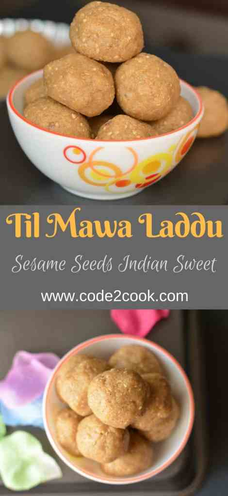 Til aur mava laddu is prepared specially on Makar Sankranti and Lohri in North India during winters. Til khoya laddu are very soft and nutritious.With the goodness of sesame seeds and richness of cottage cheese /mava, mawa til ke ladoo not only soothe your sweet craving but also having health benefits.