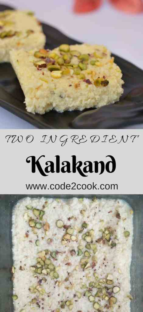 Kalakand is an Indian sweet made out of sweetened milk and paneer. I am sharing an easy and quick version of making kalakand. www.code2cook.com