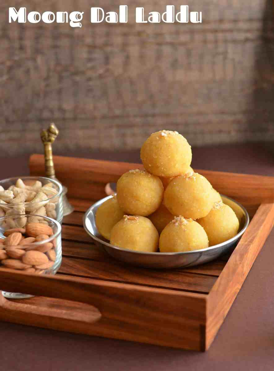 Yellow Moong Dal Laddu Recipe | How To Make Moong Dal Laddu