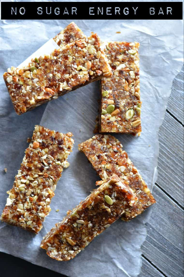 No-Bake Date Energy Bar | Healthy Vegan And Gluten Free