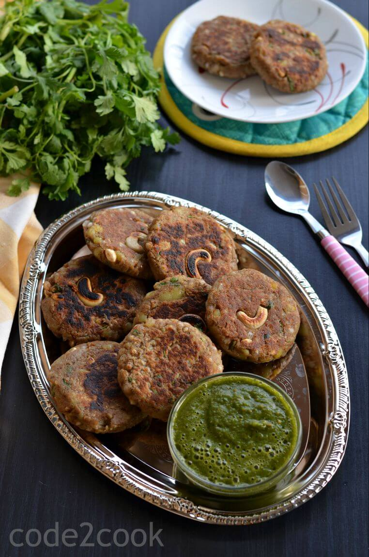 Kuttu Ki Tikki | Buckwheat Cutlet Recipe | Buckwheat Potato Croquette