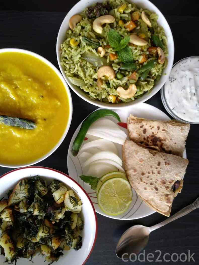 Potato dill leaf raita or aloo Suvaraita I make whenever dill leaves bunch is available in the market. Such a simple, easy, flavorful raita recipe which taste amazing. Dill leaves have a strong smell which goes into raita, makes it so delicious and aromatic. Potato dill leaf raita is perfect with lentil specially moong dal, tuardal.