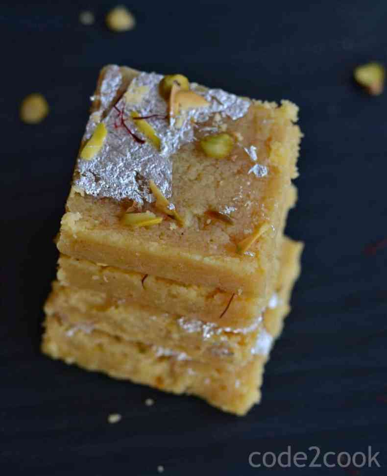 Moong Dal Barfi is a traditionalIndian delicacy prepared with moong dal or yellow lentil. This is a fudgy, grainy sweet and a bit tricky to make at home. Yellow lentil is gluten-free so this barfi is perfect for those who are allergic to gluten.