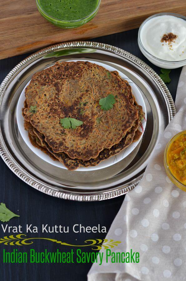 Kuttu Ka Cheela | Falahari Cheela | Buckwheat Cheela (Chilla)