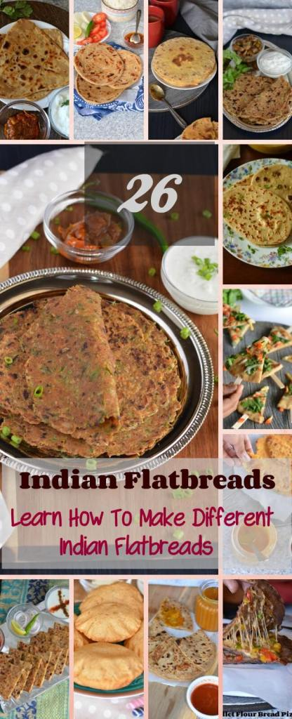"""Indian Flatbreads are a variety of flatbreads or called """"Paratha"""" in Hindi. This is an integral part of Indian cuisine irrespective of anything."""
