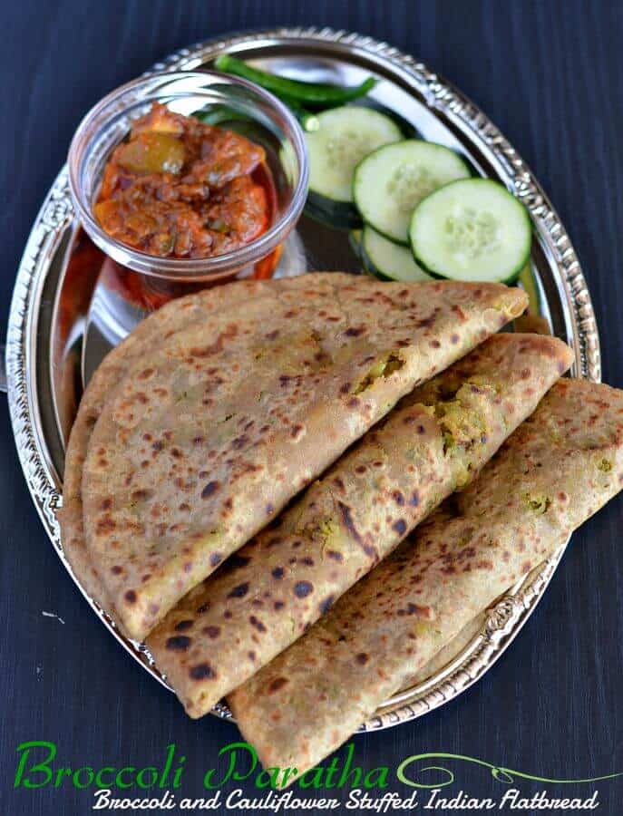 Broccoli-cauliflowerparatha is another variation of Indian flatbread where a spicy mixture of broccoli and cauliflower is stuffed in whole wheatflour dough ball. This paratha taste amazing as both of the vegetables brings a unique taste and make a great breakfast or kids tiffin box recipe.
