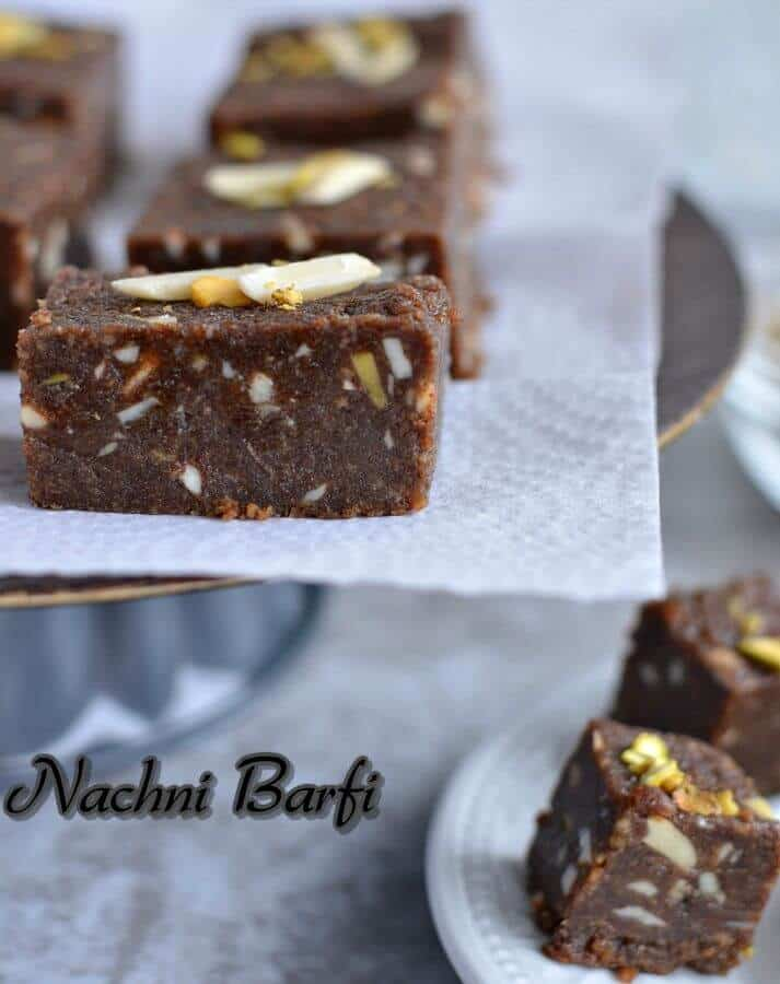 I find this barfi makes a perfect after-school snack for kids,  a great post-workout snack and a delicious sweet after meals.