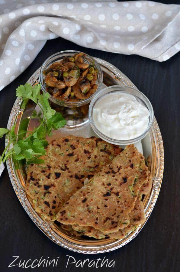 Zucchini Paratha Recipe | Spiced Flavorful Zucchini Paratha