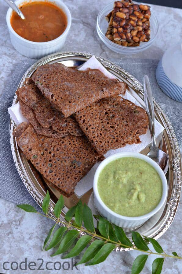 Ragi Rava Dosa | Instant Ragi Dosa Recipe | How To Make Ragi Rava Dosa