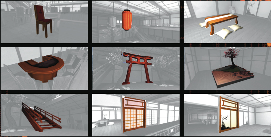 Unity: Game Setting Japan Props