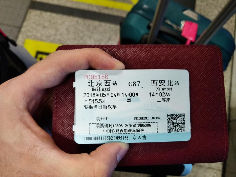 Chiński bilet kolejowy