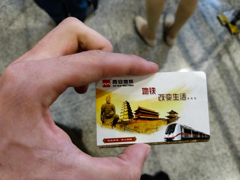 Bilet na metro w Xi'an