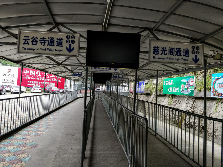 Trasy do autobusów w Tangkou