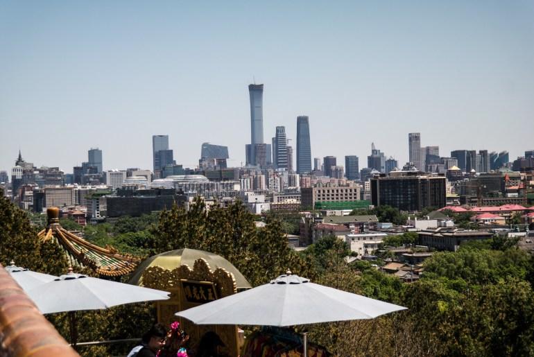 Panorama Pekinu z Parku Jingshan