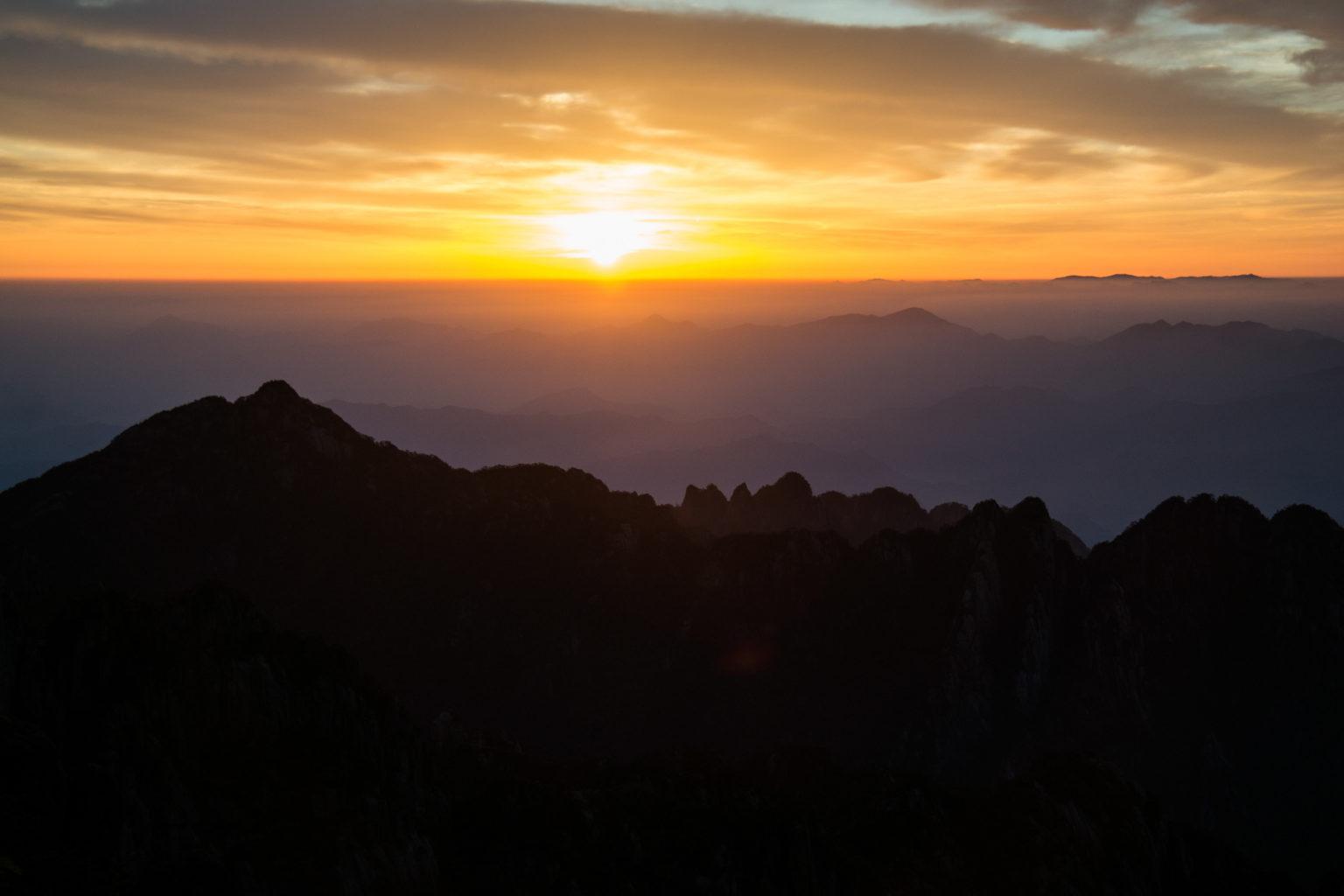 Wschód Słońca w Żółtych Górach