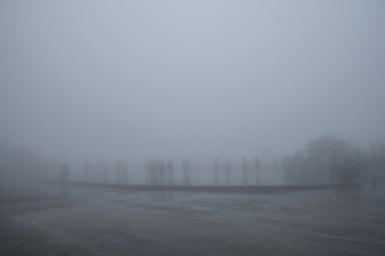 Mgła u podnóża góry Tianmen