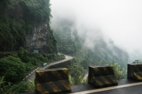 Droga 99 zakrętów na górę Tianmen