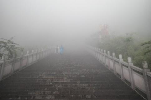 Mgła zasłania górę Tianmen