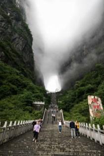 W końcu widać jaskinię na górze Tianmen