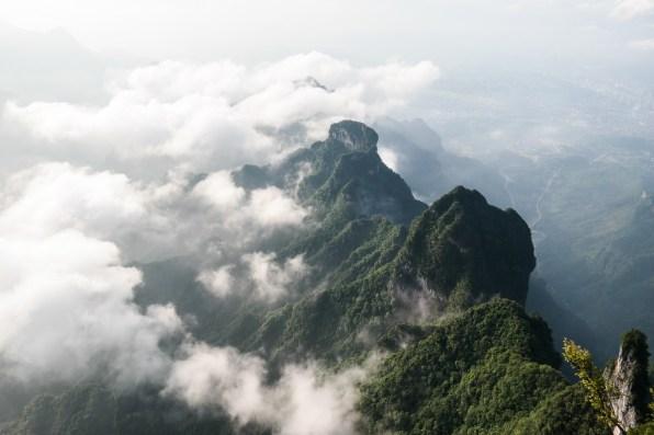 Widok z góry Tianmen