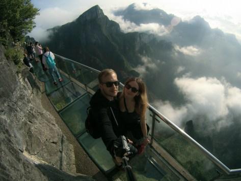 Selfie na górze Tianmen