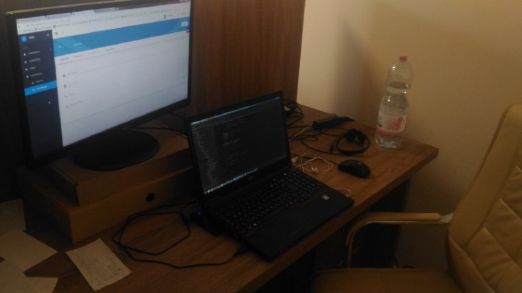 This is how a frontend developer's desk looks like